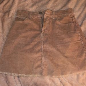 Pink Brandy Melville corduroy skirt